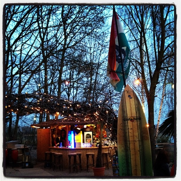 Beach bar in Lambsheim, Germany.