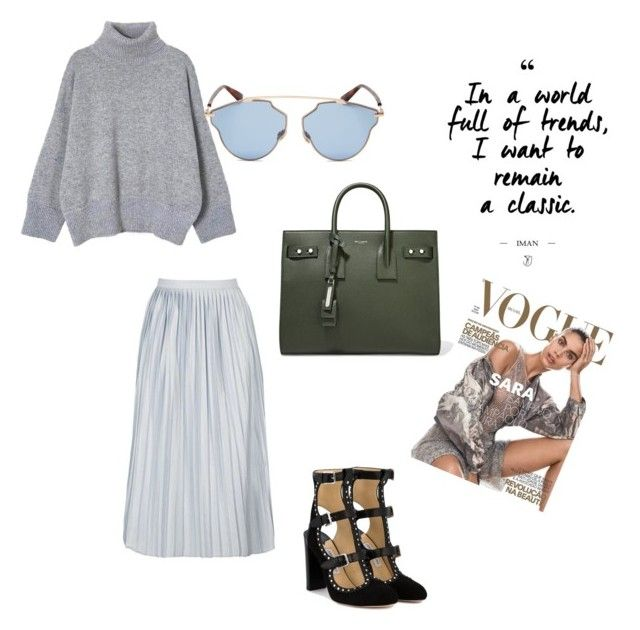 """""""fall outfit"""" by paula-wallin on Polyvore featuring Yves Saint Laurent, Christian Dior and Jimmy Choo"""
