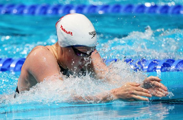 Hannah Miley of Great Britain competes during the Swimming Women's 200m Breaststroke preliminaries heat four on day thirteen of the 15th FINA World Championships at Palau Sant Jordi on August 1, 2013 in Barcelona, Spain.
