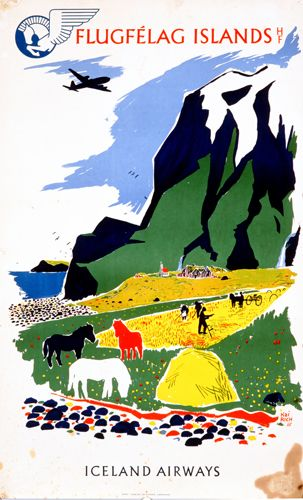 Iceland Airways Advertising Poster #vintageaviation #bia