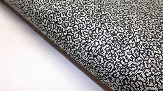 Silhouettes Benartex Studios 1755-12 Quilting Sewing Fabrics Black White Gray