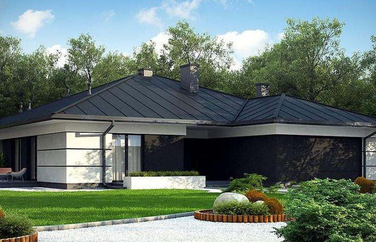 Z378 to projekt nowoczesnego domu parterowego przeznaczony dla 5-6 osobowej rodziny. Całość elewacji została utrzymana we współczesnym stylu. Rozległy taras okalający całą strefę dzienną, wyposażono w duże przeszklenia, aby maksymalnie rozświetlić wnętrza.