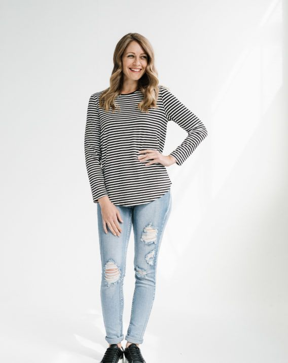 Blake Long Sleeve Striped Tee - Blossom & Glow