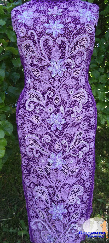 Купить платье - комбинированный, Платье нарядное, платье летнее, платье вязаное, платье на заказ