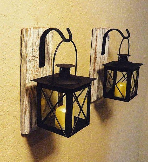 Lanterna (2), decorazione domestica rustica, costiera decorazione, decorazione di ingresso, portacandele, decorazione nautica, bagno decorazione della parete, decorazione della parete esterna