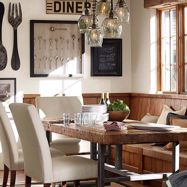 pottery barn interiors kitchen dining pinterest eckbank und esszimmer. Black Bedroom Furniture Sets. Home Design Ideas