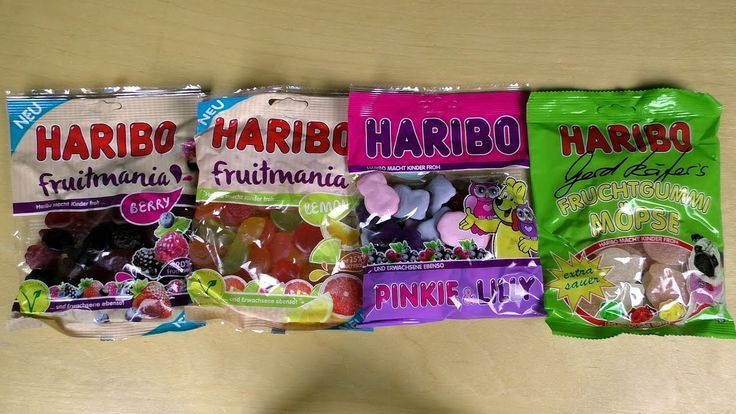 Sour Gummy Pugs & more by HARIBO