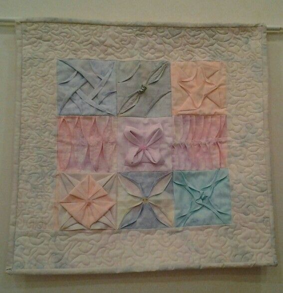1000 images about quilts dimensional applique on - Applique origami ...