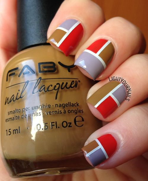 Faby Illusion geometric nail art #lightyournails
