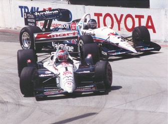 Michael Andretti and Al Unser Jr. Long Beach 1992