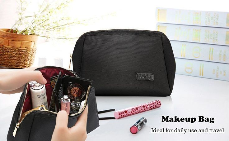 Amazon.com: ProCase Makeup Bag Organizer for Purse, Cosmetic Pouch Clutch Travel Storage Bag for Women Skincare Facial Cleanser and Beauty Stuff -Large, Black: Computers & Accessories #facialcleanserforblackwomen