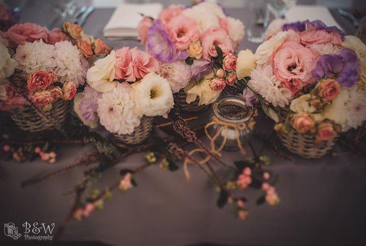 Kwiatowe dekoracje w koszyczkach || Floral decoration in baskets