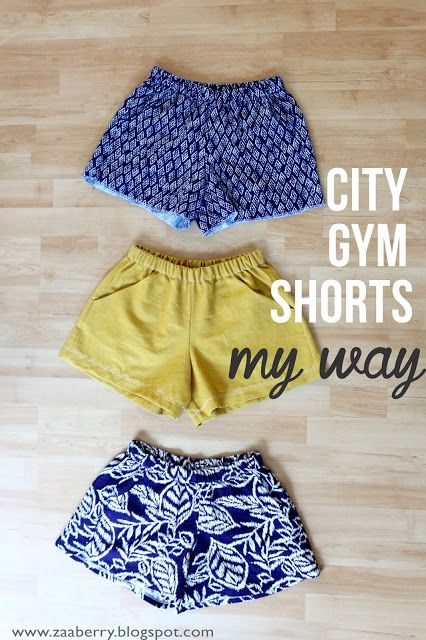 Shorts, Shorts, Shorts...My Version of the City Gym Shorts