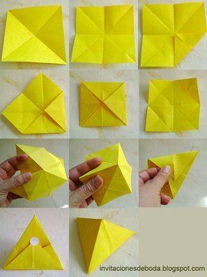 Andenken für Hochzeit im Origami