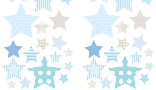 Wandsticker 42-teilig - Bunte Sterne