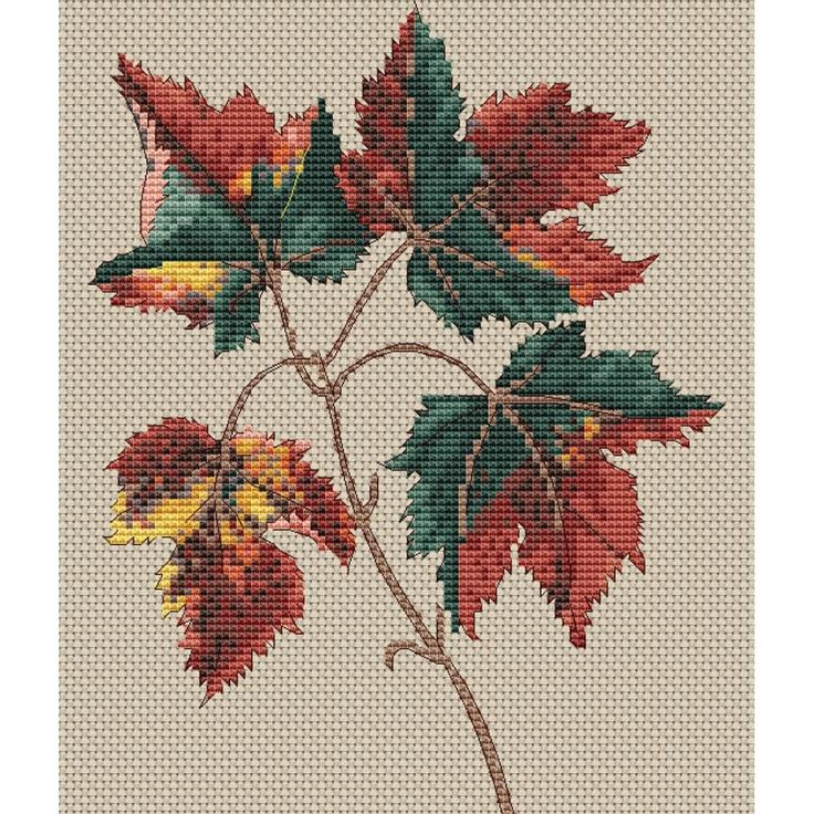 "FLORAGENIUS Acer Rubrum Counted Cross Stitch Kit-6.2""X8.8"" 14 Count"