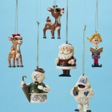 Jim Shore Set of 6 Rudolph Character Ornaments... oh that movie reminds me of my childhood...