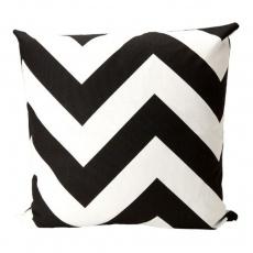 "20"" x 20"" Brookneal Pillow, Black/White"