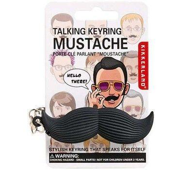 Talking mustache keychain from Kikkerland