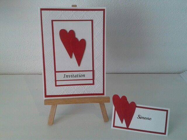Bryllups invitation og bordkort