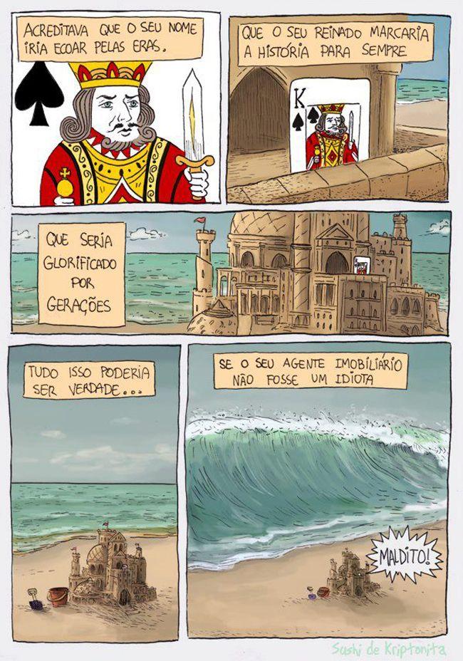 Não construa castelos de areia na sua vida!