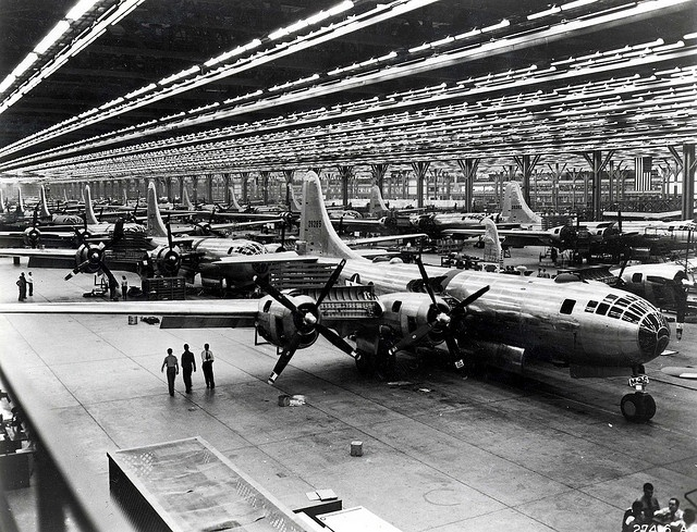 Boeing's Wichita, Kansas B-29 assembly line