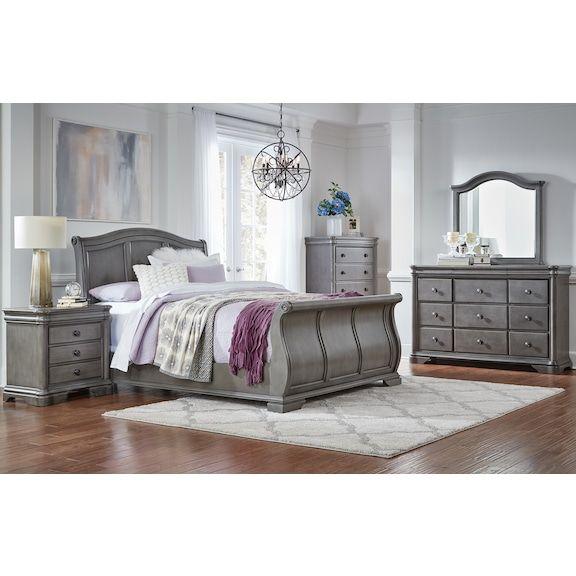 Stratton 4pc Queen Bedroom Grey Grey Bedroom Furniture Gray Bedroom King Bedroom