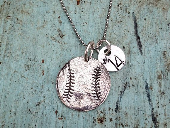 Sterling Silver Baseball Necklace with Hand by sosobellatoo, $38.00