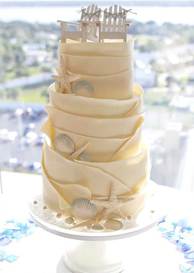 unique beach wedding cakes 24 tartas de boda originales decoradas con fondant cake 21423