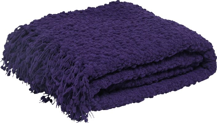 Sabina Throw - Plum from Urban Barn