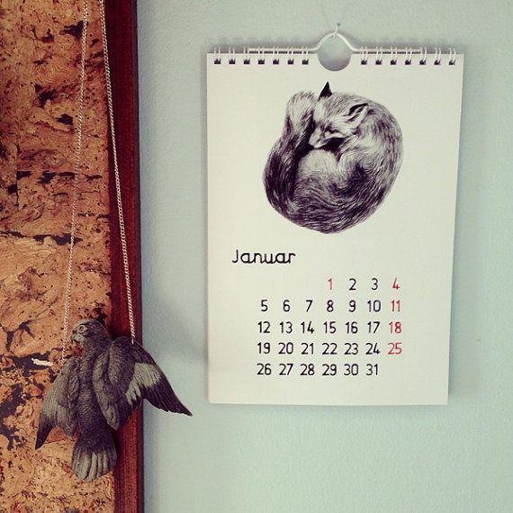 Illustrated calendar by MissTalseth Illustration.
