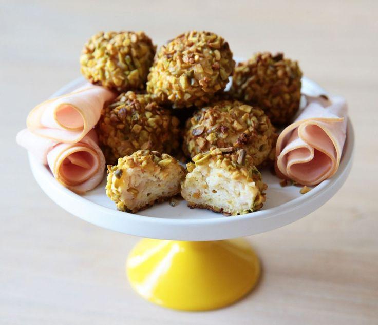 Polpette di tacchino e ricotta in crosta di pistacchi