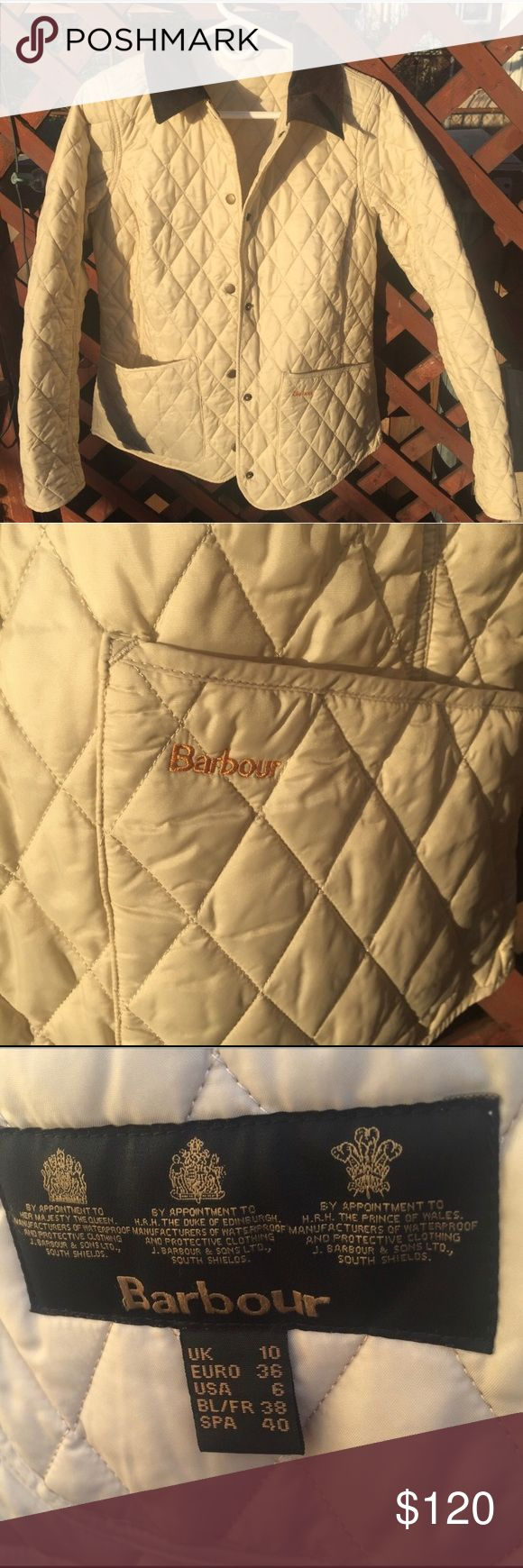 Barbour quilted jacket perfect condition Perfect condition, like new, beautiful color and curdoroy collar Barbour Jackets & Coats