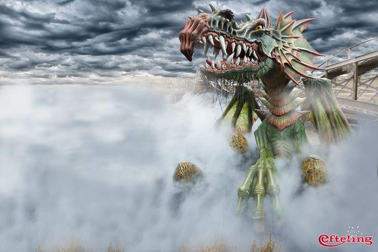 Efteling wallpaper van de draak van achtbaan Joris en de Draak.