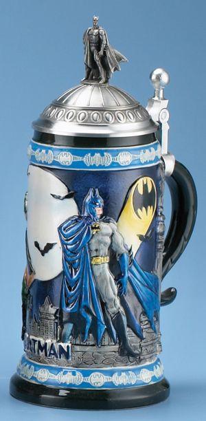 Batman Beer Stein   dc comics batman 5016 custom dc comics batman stein figurine lid item ...