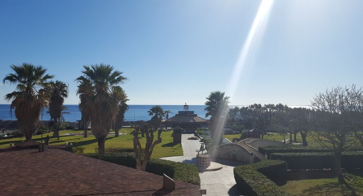 Amazing view of Paradiso Beach Bar from the lobby of Esperos Palace!