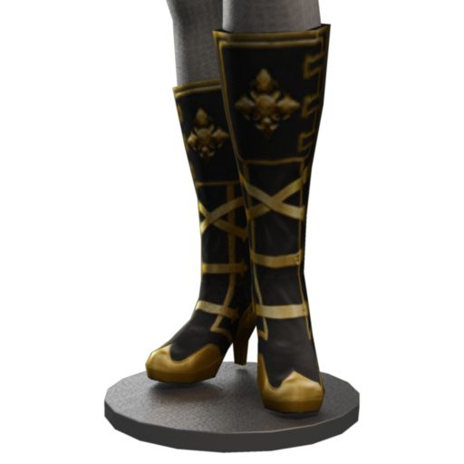 Steampunk Gold Buckled Boots