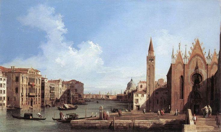 Giovanni Antonio Canal, il Canaletto - Grand Canal - from Santa Maria della Carità to the Bacino di San Marco, 1733
