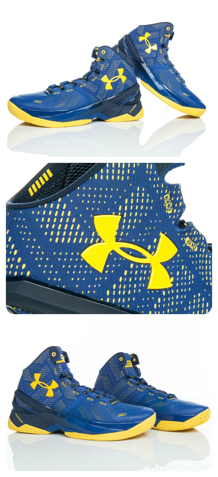 These Oakland-inspired Under Armour Curry 2 'Dub Nation' court shoes are available now.