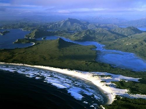 Spectacular view of the coast in Tasmania