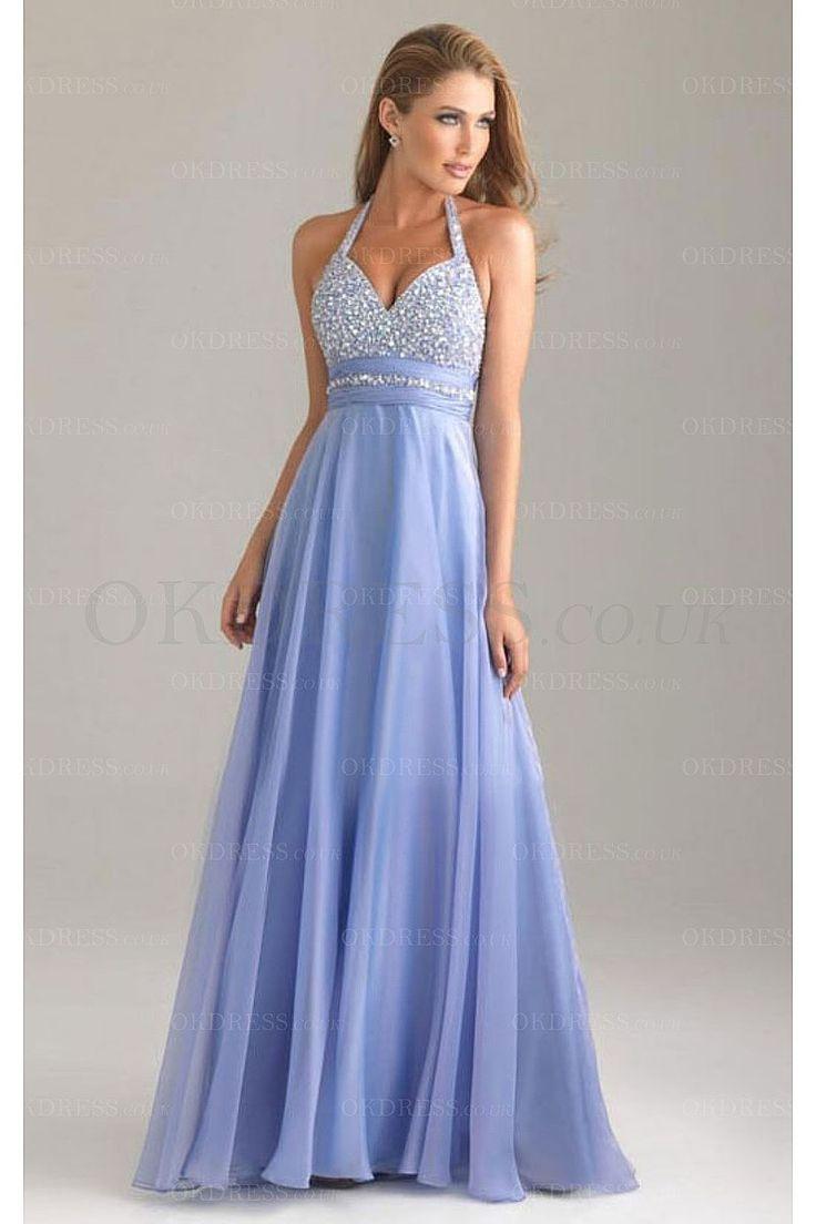 Beading Chiffon A-Line Formal Dresses - by OKDress UK