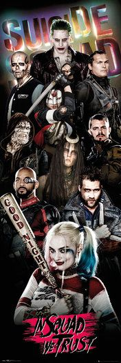 Suicide Squad Collage Door Poster
