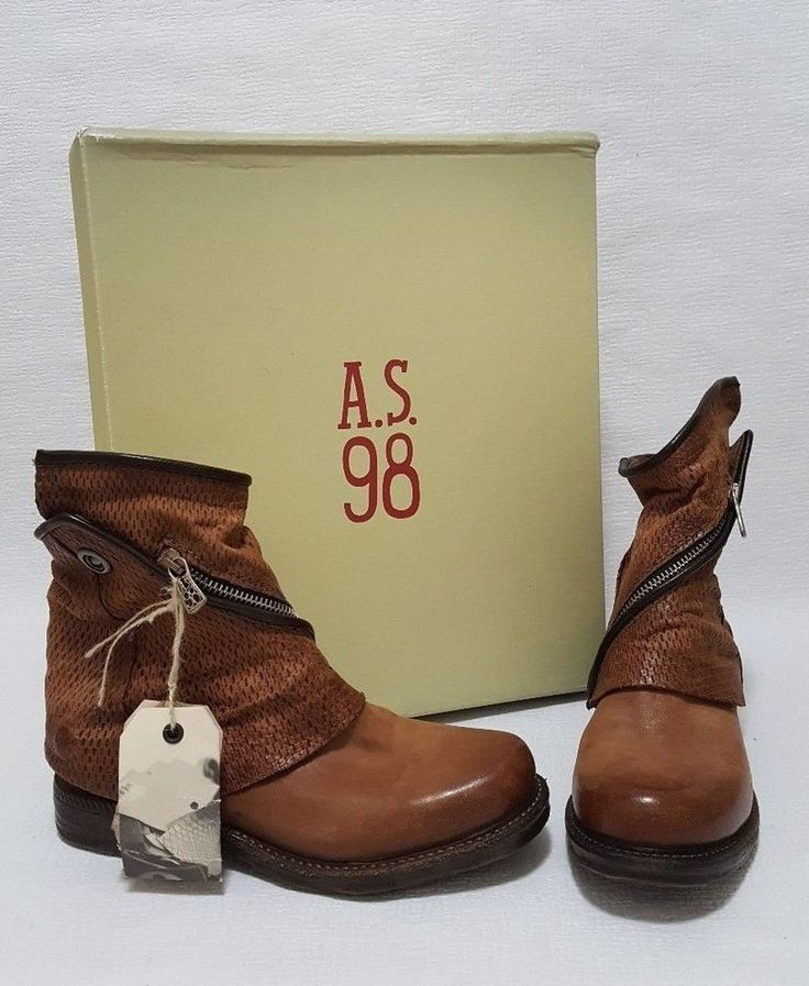 A.S.98  Smith Castagna Women's Leather Chelsea Boots with Detachable Cover 36   | eBay