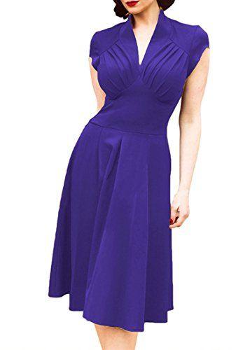 REPHYLLIS Women Retro Classy V Neck Cap Sleeve 1940's Roc... https://www.amazon.com/dp/B01ET6ZSDE/ref=cm_sw_r_pi_dp_x_4n-bybW1RT580