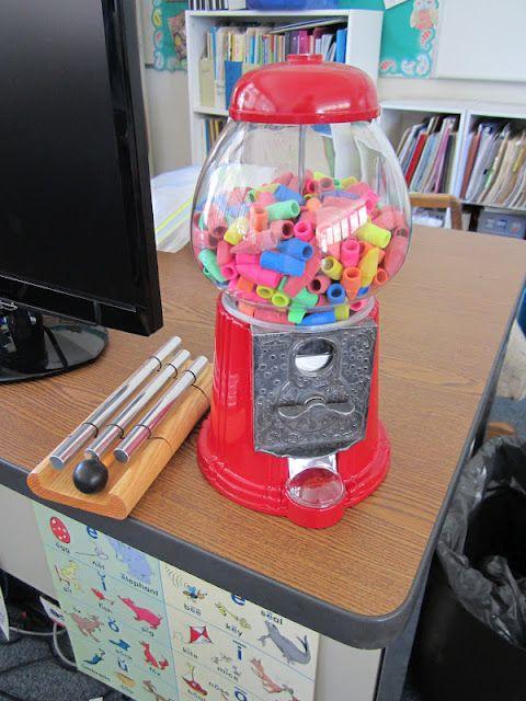 Eraser Cap Dispenser by teacherbitsandbobs via Pinterest Inspiration: For rewards! #School #Eraser_Dispenser #teacherbitsandbobs