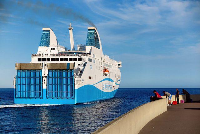 Travel to Corsica via a short ferry ride from Santa Teresa di Gallura, Sardinia to Bonifacio