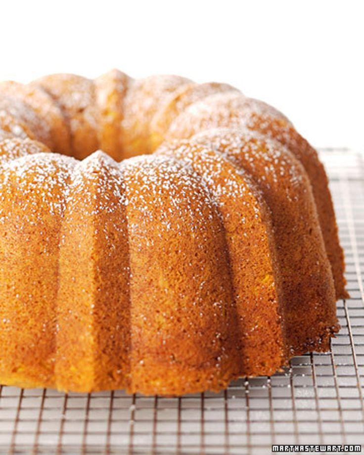 Spicy Pumpkin Bundt Cake | Martha Stewart Living - This recipe for spicy pumpkin bundt cake is a delicious and seasonal treat sure to please the whole family.