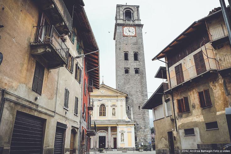 Lo spettacolo del campanile in muratura, più alto di tuto il Biellese.