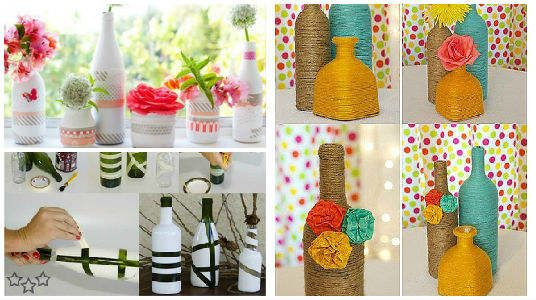 7 best images about proyectos que intentar on pinterest for Ideas para decorar botellas