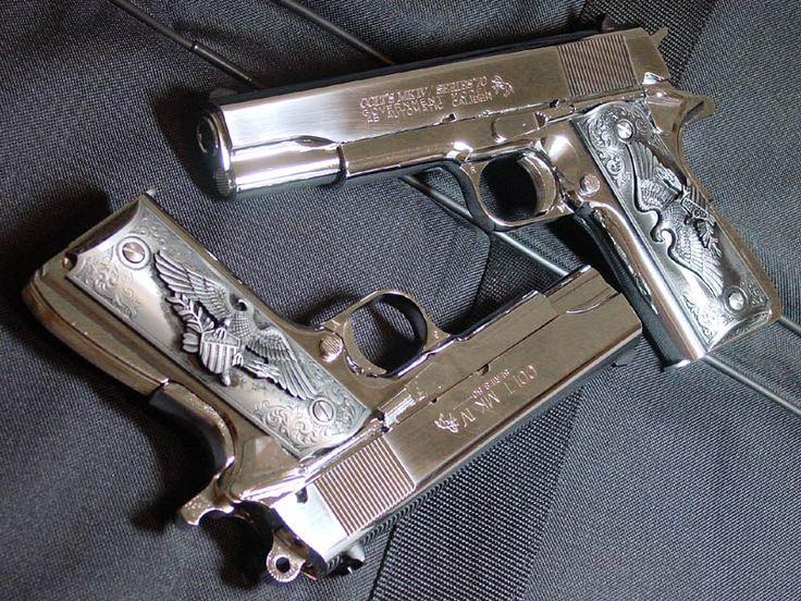 Silver Colt 1911: Stuff, Colts 45 1911, Weapons, Guns 1911, 1911 Colts, Colts 1911, 1911 45Acp, Colts M1911, 1911 Pistol